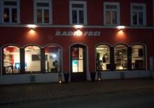 Radio-Fernsehgeschäft Aussenbeleuchtung