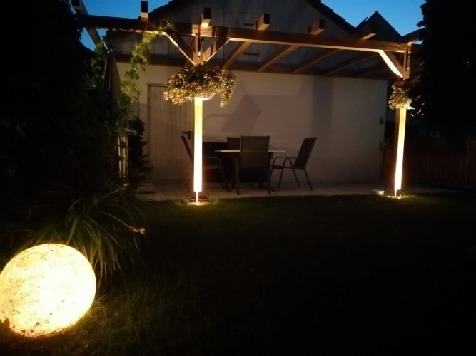 Gartenbeleuchtung Pergola